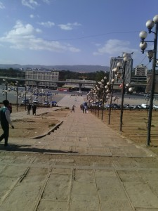 Meskel square. Like many other centers in Addis, it's destinated to change face in some years